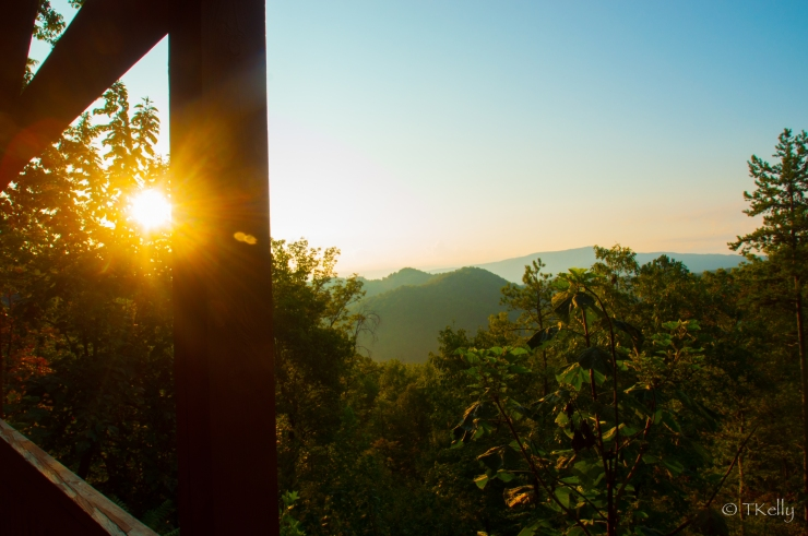 Sunrise over the Smokies, August 25, 2012. Wears Valley, TN